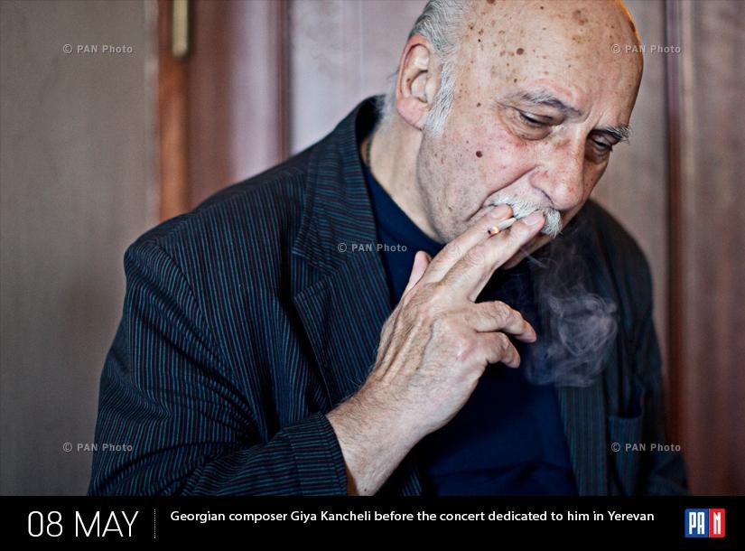 Վրացի կոմպոզիտոր Գիա Կանչելին Երևանում՝  իրեն նվիրված համերգից առաջ