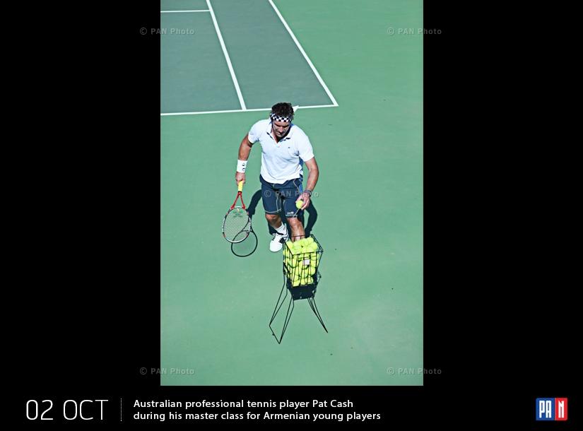 Ավստրալիացի պրոֆեսիոնալ թենիսիստ Փեթ Քեշը  հայ երիտասարդ խաղացողների համար վարպետության դասի ժամանակ