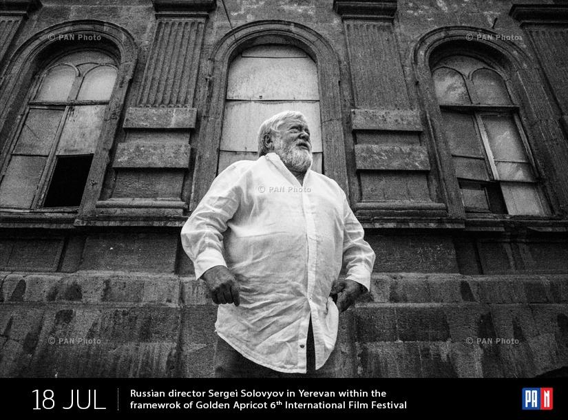 Ռուս կինոռեժիսոր Սերգեյ Սոլովյովը Երևանում` «Ոսկե ծիրան» 6-րդ միջազգային կինոփառատոնի շրջանակում
