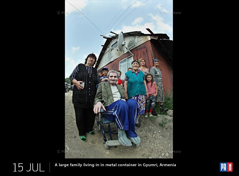 Գյումրիի տնակներից մեկում ապրող բազմազավակ ընտանիք
