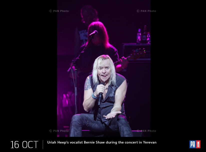 Uriah Heep խմբի վոկալիստ Բերնի Շոուն երևանյան համերգի ժամանակ