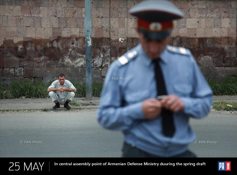 ՀՀ ՊՆ կենտրոնական հավաքակայանում գարնանային զորակոչի ժամանակ
