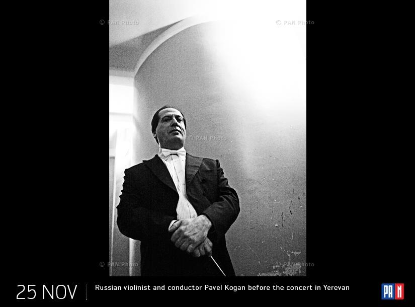 Ռուս ջութակահար և դիրիժոր Պավել Կոգանը երևանյան համերգից առաջ
