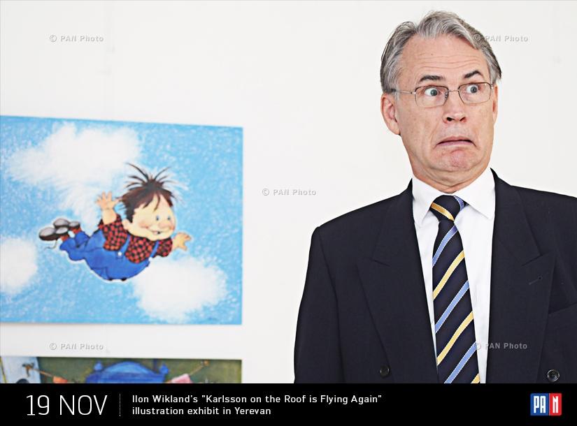 Պատկերազարդող Իլոն Վիկլանդի «Կառլսոնին, որն ապրում է տանիքում...» ցուցահանդեսը  Գեղագիտության ազգային կենտրոնում