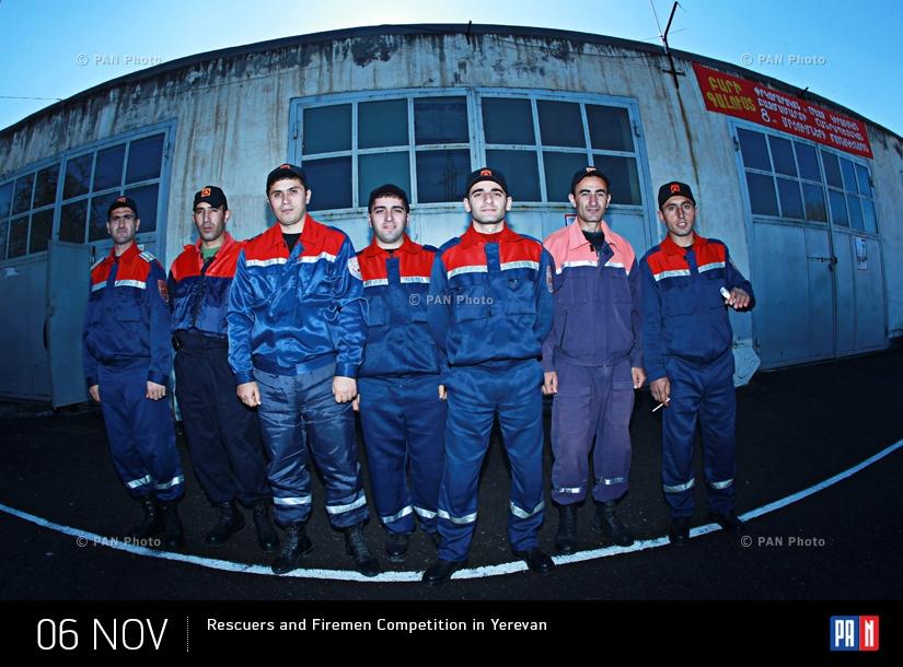 Հրշեջ-փրկարարների մրցույթ Երևանում