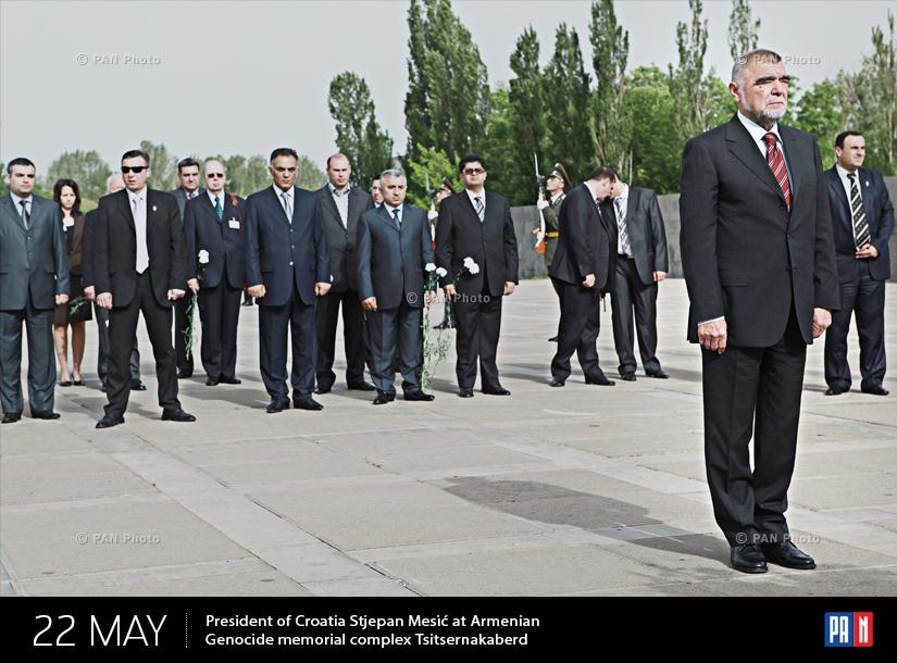 Խորվաթիայի նախագահ Ստյեպան Մեսիչը Ծիծեռնակաբերդի հուշահամալիրում