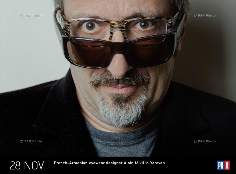 Ակնոցների  Ֆրանսահայ մոդելյոր  Ալեն Միկլիին Երևանում