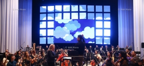 General rehearsal of the concert dedicated to 95th anniversary of Arno Babajanyan