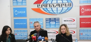 Press conference by the acting Chair of the Tourism State Committee of RA Ministry of Economic Development and Investments Zarmine Zeytuntsyan and Director of Shirak Tours Alexan Ter-Minasyan