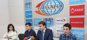 Press conference of General Secretary of the RA Chess Federation Mikhail Andreasyan, European and World Chess Champions Manuel Petrosyan and Hayk Martirosyan