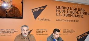 Пресс-конференция президента баскетбольного клуба «Урарту» Ара Погосяна и главного тренера клуба Тиграна Гекчяна