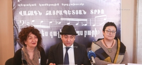 Press conference of 'Hover' state chamber choir