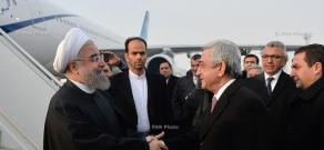 President of Iran Hassan Rouhani arrived to Armenia on official visit