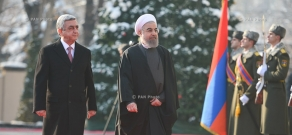 Official welcoming ceremony for President of Iran Hassan Rouhani at RA Presidential Palace