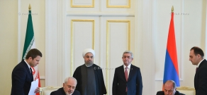 Armenian-Iranian negotiations and signing of documents on cooperation between Armenia and Iran