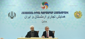 Presidents of Armenia and Iran Serzh Sargsyan and Hassan Rouhani attended the Armenia-Iran Business Forum