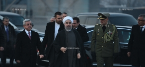 The official ceremony of bidding farewell to President of Iran Hassan Rouhani at RA Presidential Palace
