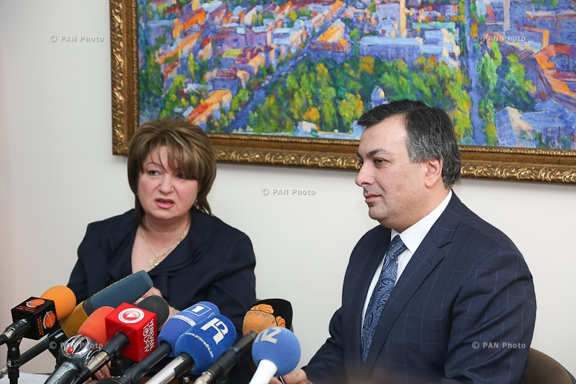 Press conference by Minister of Culture of Armenia Armen Amiryan and Director of the Armenian State Philharmonic Orchestra Ruzanna Sirunyan