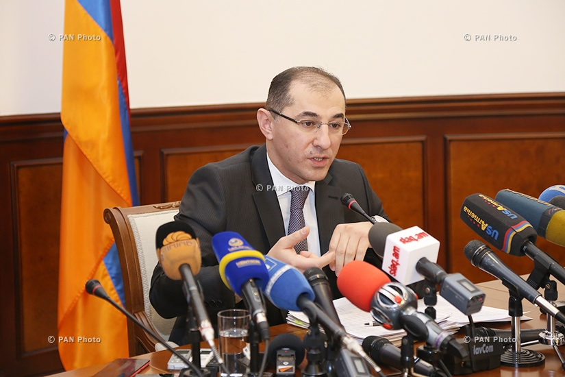 Year-end press conference of Armenian Minister of Finance Vardan Aramyan