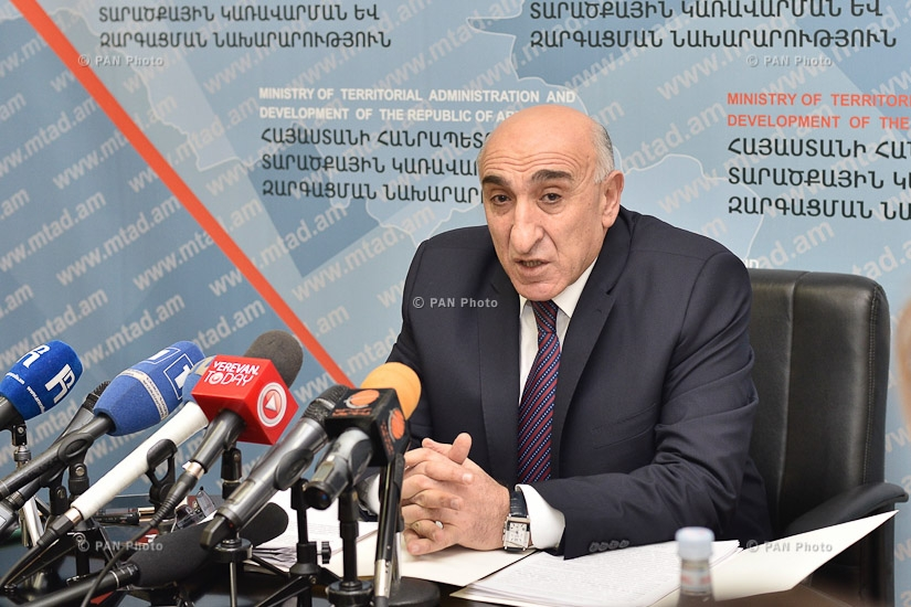 Year-end press conference Minister of Territorial Administration and Development Davit Lokyan