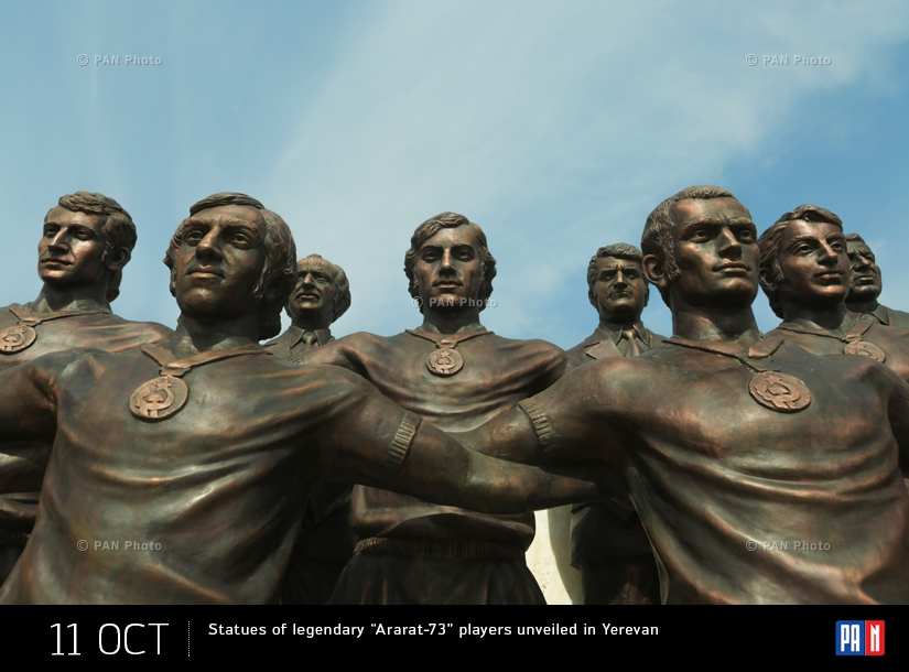"Statues of legendary ""Ararat-73"" players unveiled in Yerevan"