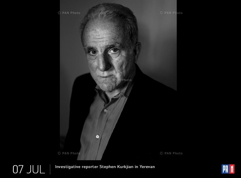 Investigative reporter Stephen Kurkjian in Yerevan