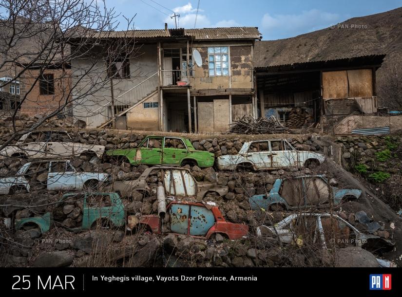 In Yeghegis village, Vayots Dzor Province, Armenia