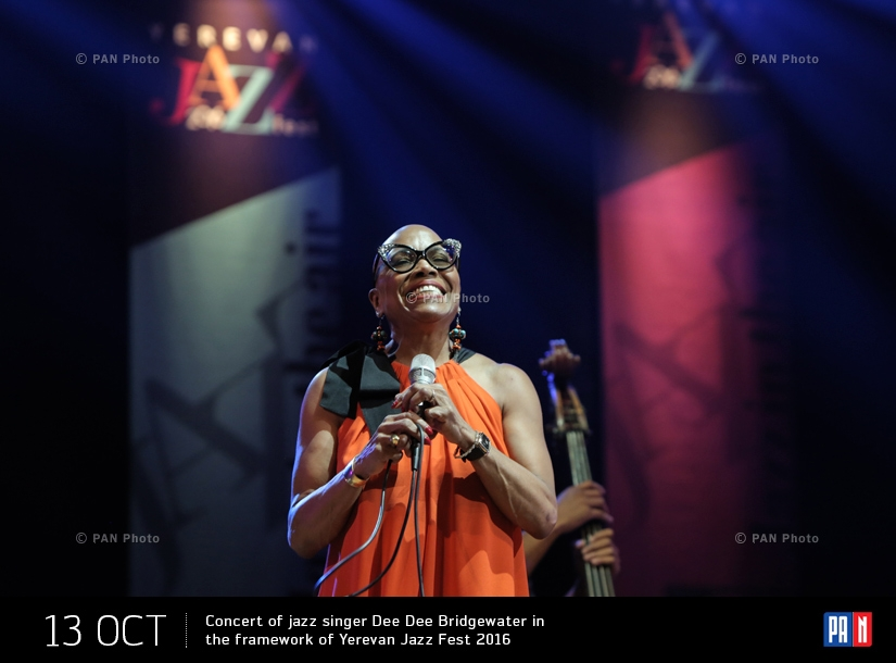 Concert of jazz singer Dee Dee Bridgewater in the framework of Yerevan Jazz Fest 2016