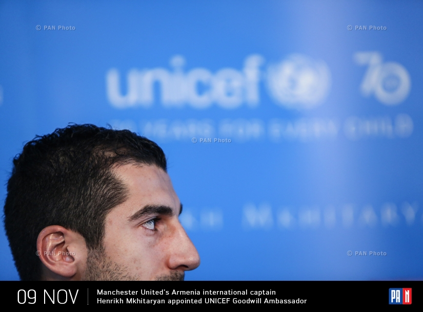 Manchester United's Armenia international captain Henrikh Mkhitaryan appointed UNICEF Goodwill Ambassador