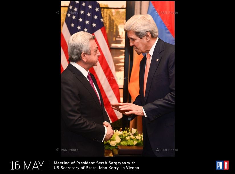 Meeting of President Serzh Sargsyan with US Secretary of State John Kerry  in Vienna