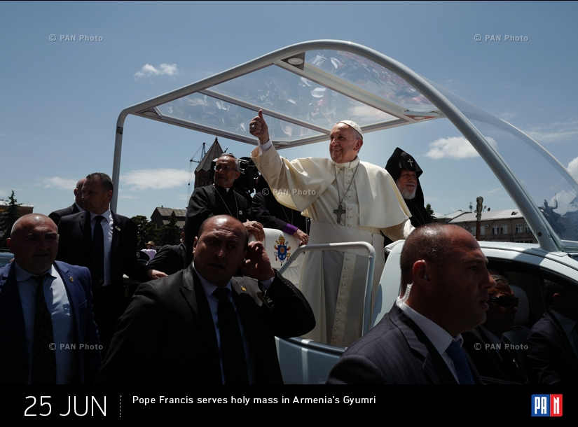 Pope Francis serves holy mass in Armenia's Gyumri