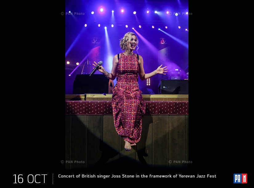 Concert of British singer Joss Stone in the framework of Yerevan Jazz Fest 2016