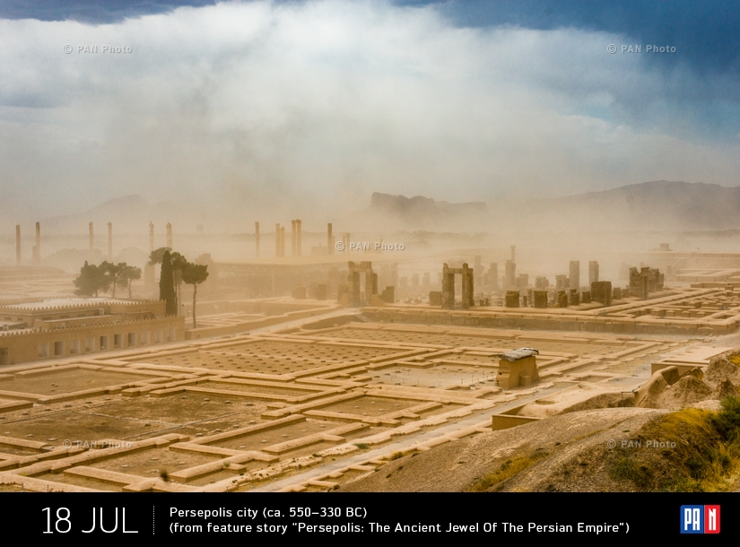 "Persepolis city, ca. 550–330 BC (from feature story ""Persepolis: The Ancient Jewel Of The Persian Empire"")"