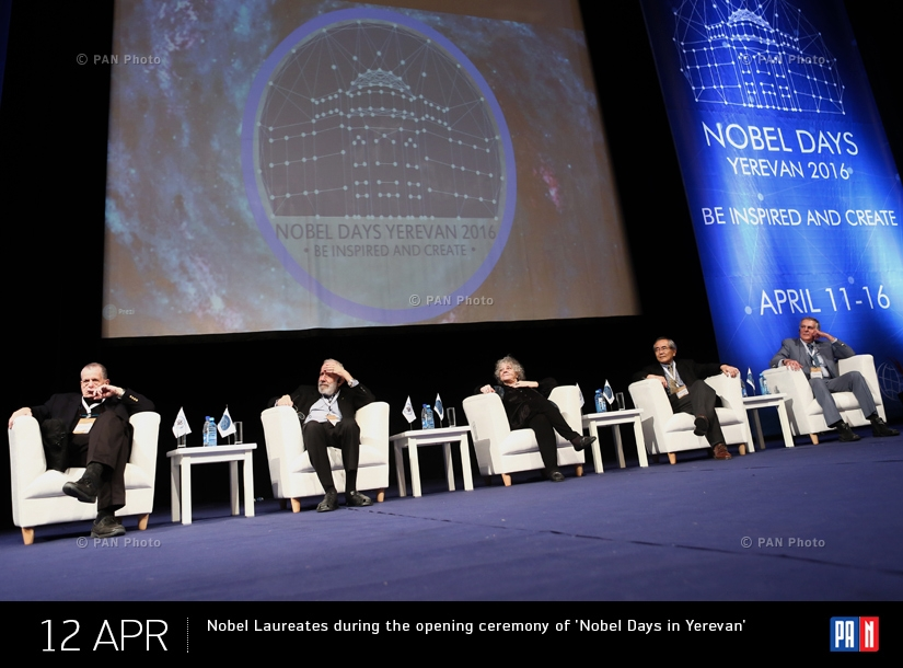 Nobel Laureates during the opening ceremony of 'Nobel Days in Yerevan'