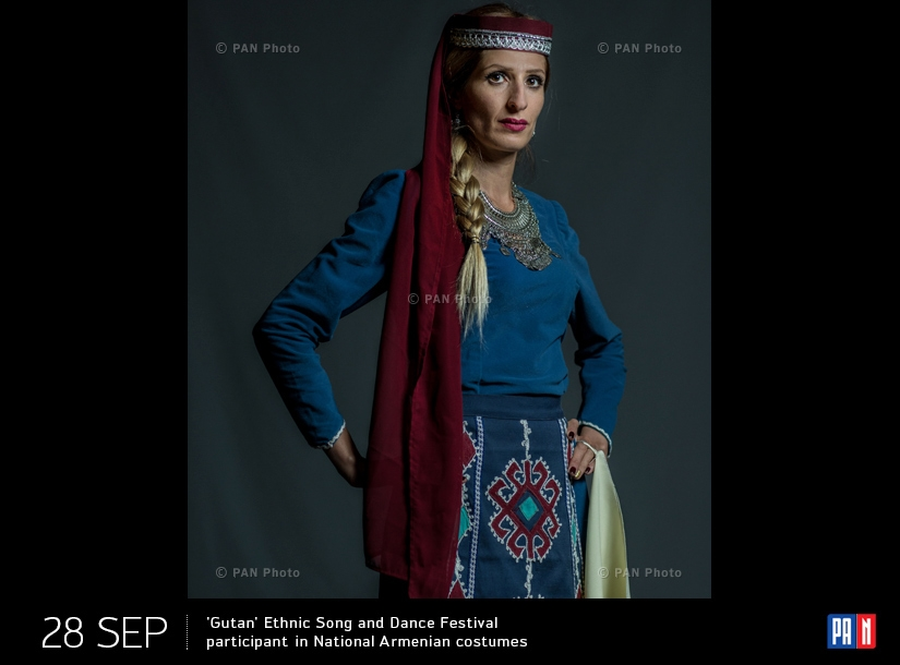 'Gutan' Ethnic Song and Dance Festival participant in National Armenian costume