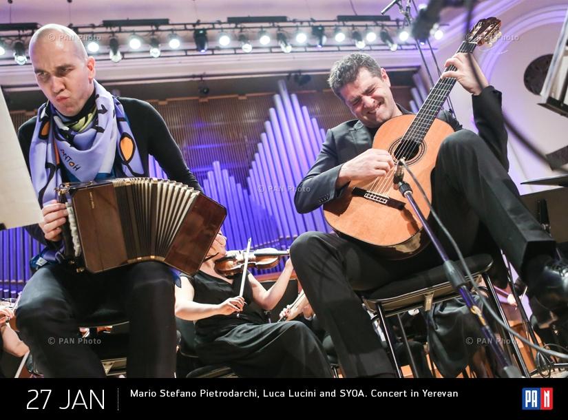 Mario Stefano Pietrodarchi, Luca Lucini and SYOA. Concert in Yerevan