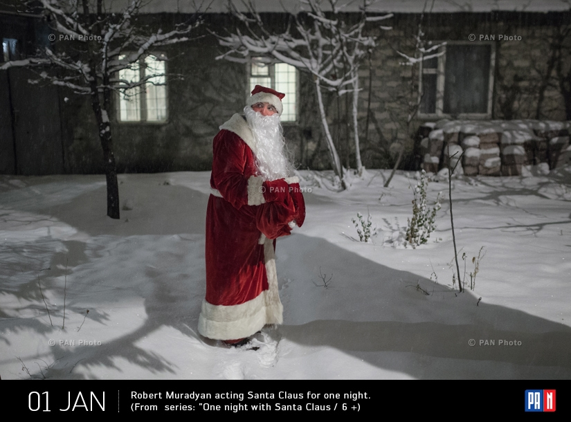 Robert Muradyan acting Santa Claus for one night. (From  series: One night with Santa Claus / 6 +  )