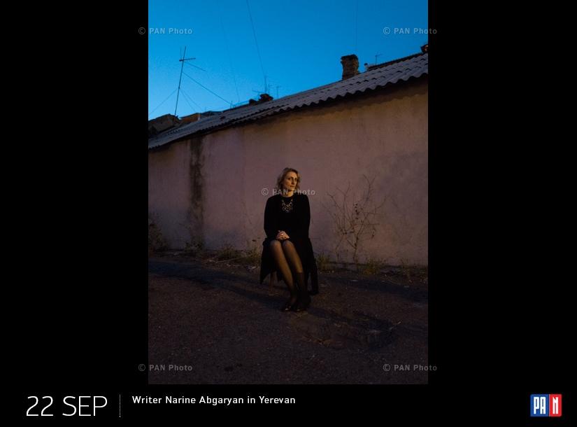 Writer Narine Abgaryan in Yerevan