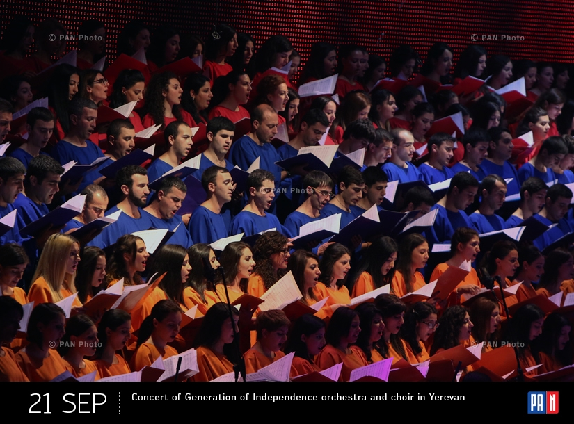 Concert of Generation of Independence orchestra and choir in Yerevan