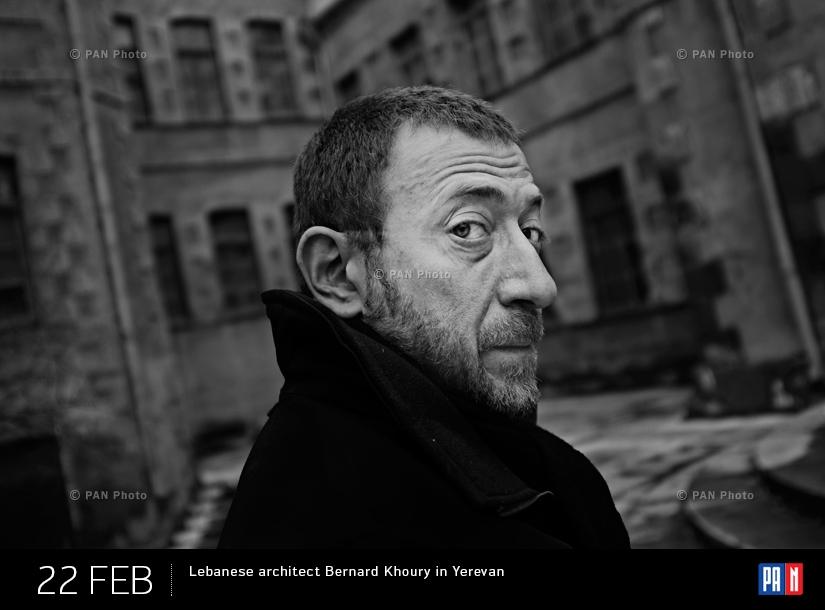 Lebanese architect Bernard Khoury in Yerevan