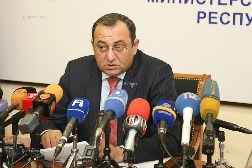 Year-end press conference of Armenia's Economy Minister Artsvik Minasyan