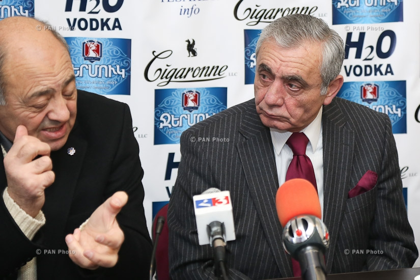 Press conference by head of Composers' Union of Armenia Aram Satyan and Armenia's Writers Union chairman Edward Militonyan