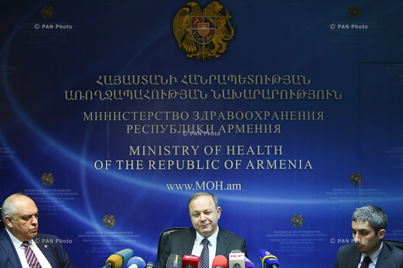 Year-end press conference by Armenia's Minister of Health Levon Altunyan