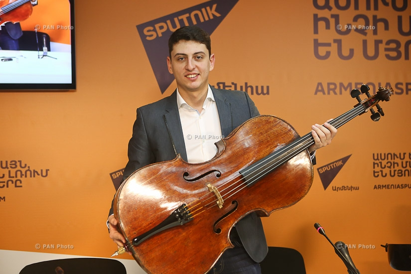 Press conference by Cellist Narek Hakhnazaryan