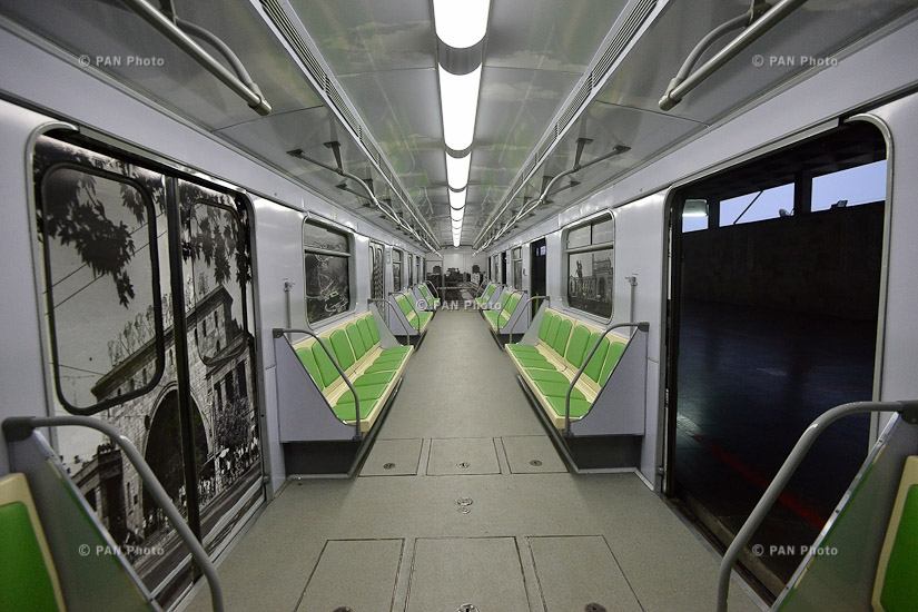 Yerevan Metro launches newly-renovated trains with two subway cars