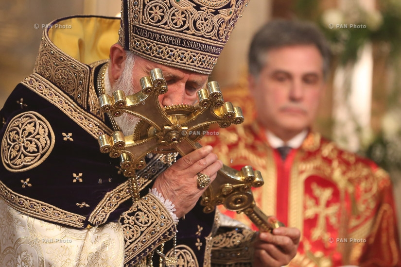 Christmas Liturgy serving ceremony at Mother See of Holy Etchmiadzin