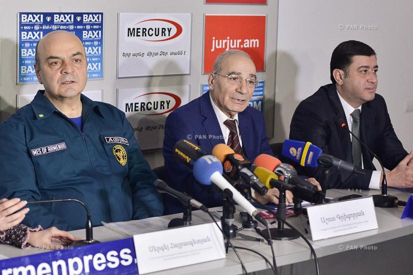 Press conference by Ashot Grigoryan, Arman Nalbandyan and Sergey Hayrapetyan