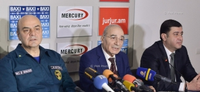 Press conference by Ashot Grigoryan, Arman Nalbandyan and Sergey Hayrapetyan