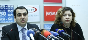Press conference of Deputy Minister of Energy and Natural Resources of Armenia Hayk Harutyunyan and Director of Renewable Resources and Energy Efficiency Fund of Armenia Tamara Babayan