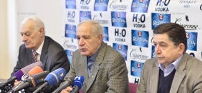 Press conference of the head of Architects' Union Mkrtich Minasyan and board member Sashur Kalashyan